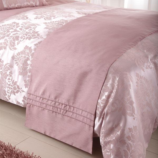 chemin de lit anastasia jacquard imitation soie rose 50 x 240 cm ebay. Black Bedroom Furniture Sets. Home Design Ideas