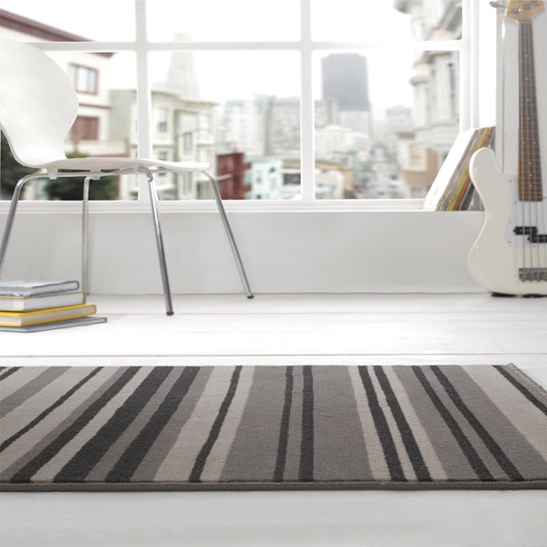 Grey Stripe Rug Furniture Shop