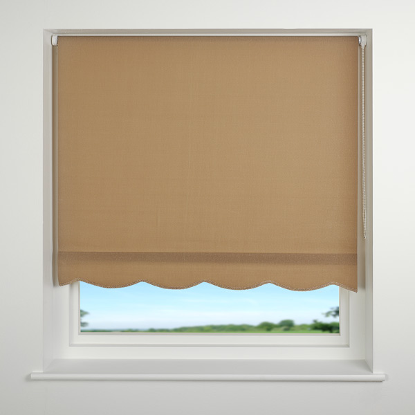 Details about universal scalloped edge roller blind