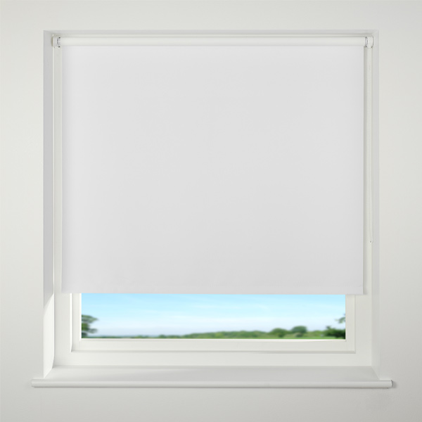 White Roller Blinds : Universal blackout roller blind d cm ebay