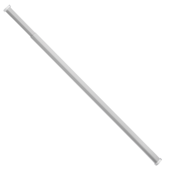 universal oval tension curtain rod white ebay