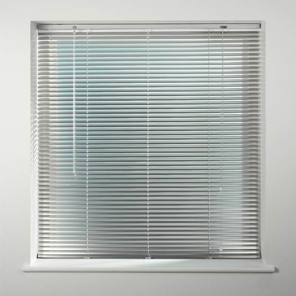 Universal metal 25mm aluminium venetian blind ebay for Ready made blinds ikea
