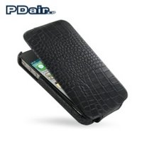 View Item PDair Leather Flip Case V2 for Apple iPhone 4 - Black Croco