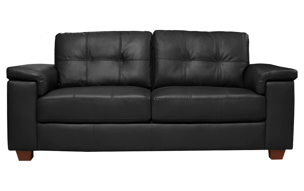 SALE Ravello Large 3 Seater Black Leather Sofa Sofas Couch Suite Range