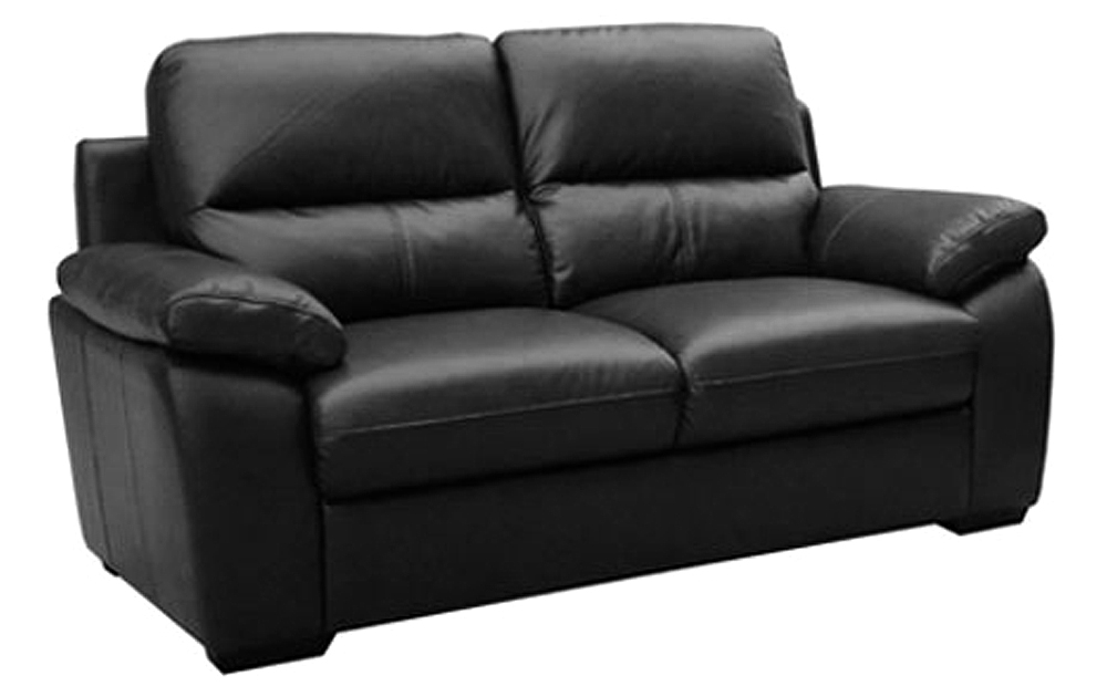 sale gloucester regular 2 seater black leather sofa sofas couch suite