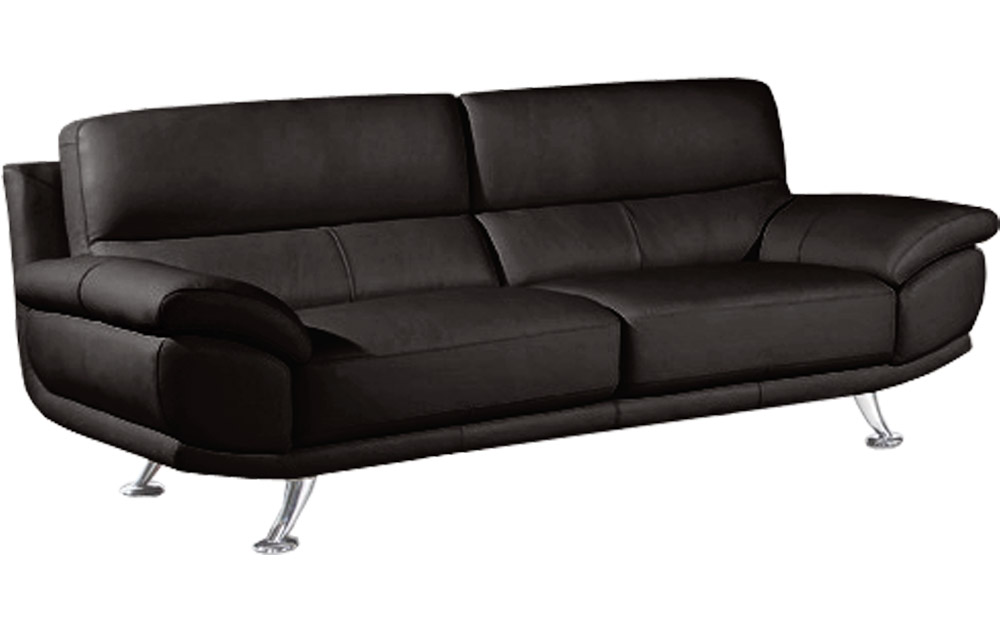 regular 2 seater black leather sofa sofas couch suite range settee