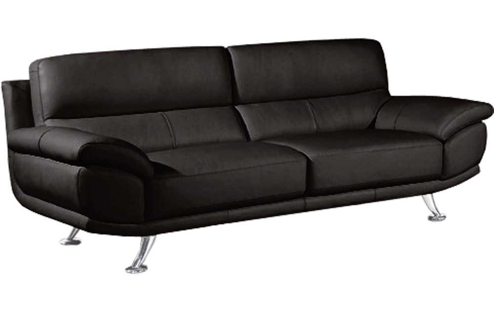SALE Armani Large 3 Seater Black Leather Sofa Sofas Couch Suite Range