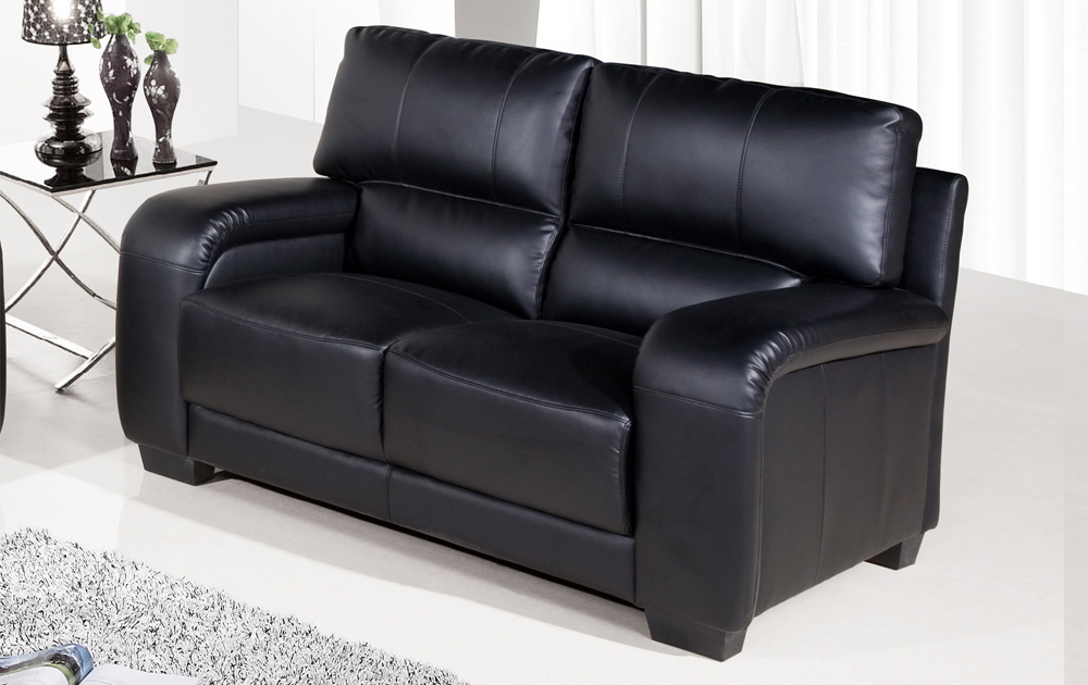 sale dior regular 2 seater black leather sofa sofas couch suite range