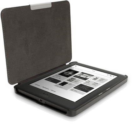 iGadgitz Slim PU Leather Shell Case Cover for Kobo Glo HD, Kobo Touch 2 with Sleep Wake & Magnetic Closure Thumbnail 4