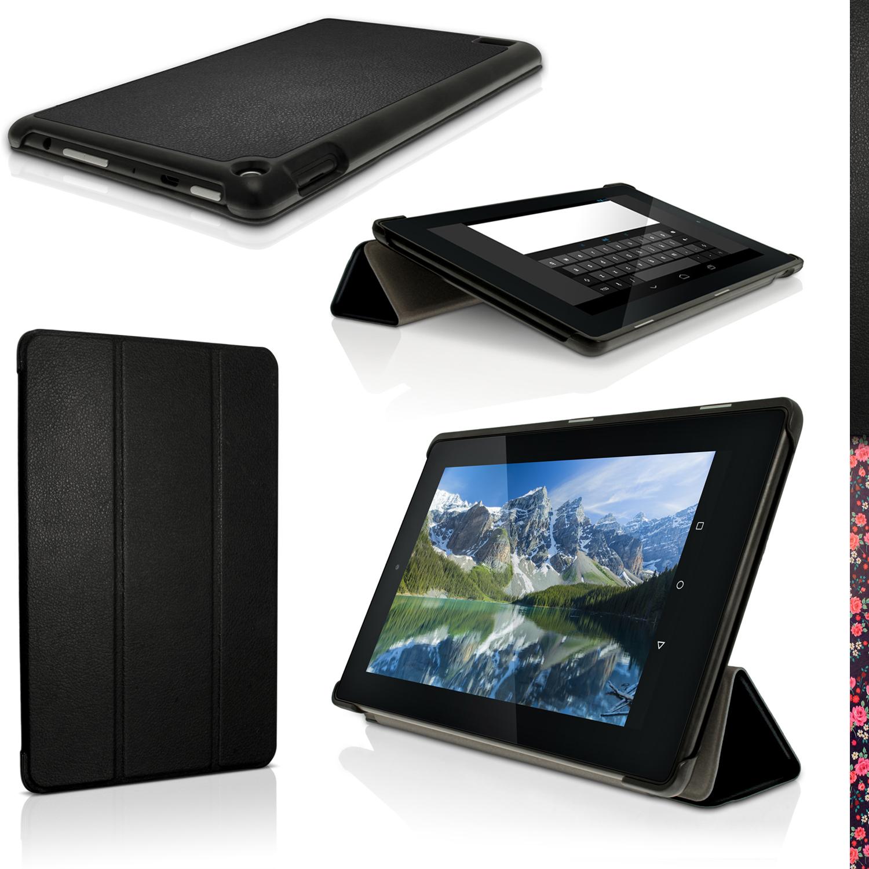 Pu cuero funda smart cover para amazon fire 7 tablet 2015 carcasa case piel ebay - Fundas kindle amazon ...