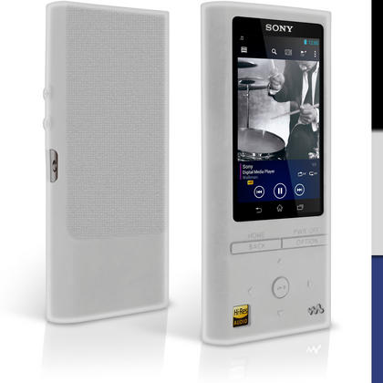 iGadgitz Silicone Skin Case Cover for Sony Walkman NW-ZX100 128GB High-Resolution Audio MP3 Player + Screen Protector Thumbnail 4