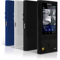 iGadgitz Silicone Skin Case Cover for Sony Walkman NW-ZX100 128GB High-Resolution Audio MP3 Player + Screen Protector