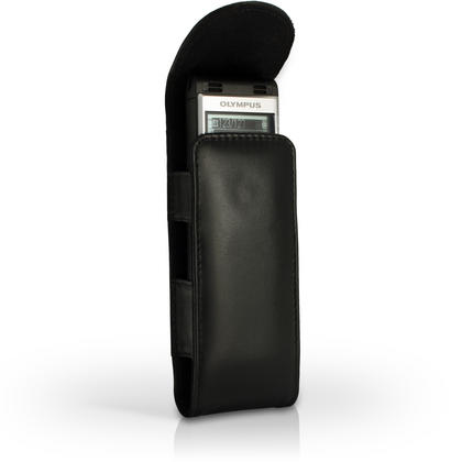 iGadgitz Black Genuine Leather Case Cover for Olympus WS-852 853 Digital Voice Recorder  Thumbnail 7