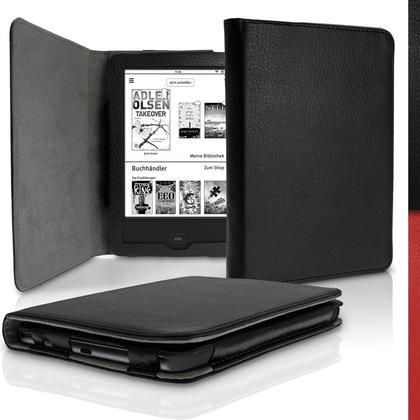 iGadgitz PU Leather Case Cover for Tolino Shine 2 HD with Sleep Wake Thumbnail 1