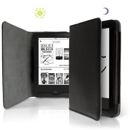 iGadgitz PU Leather Case Cover for Tolino Shine 2 HD with Sleep Wake Thumbnail 3