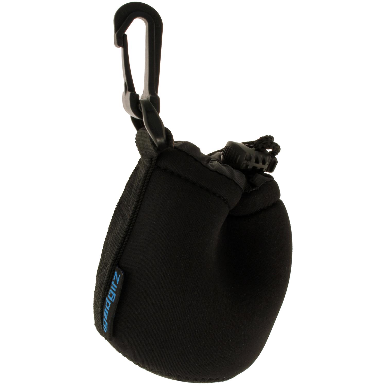 iGadgitz Small Drawstring Neoprene Lens Protector Sleeve Pouch Bag Cover for SLR DSLR Camera Lenses