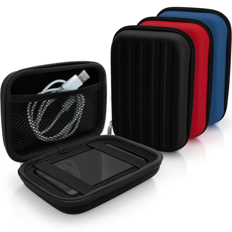 iGadgitz Black EVA Hard Travel Case Cover for Portable External Hard Drives (Various Sizes)