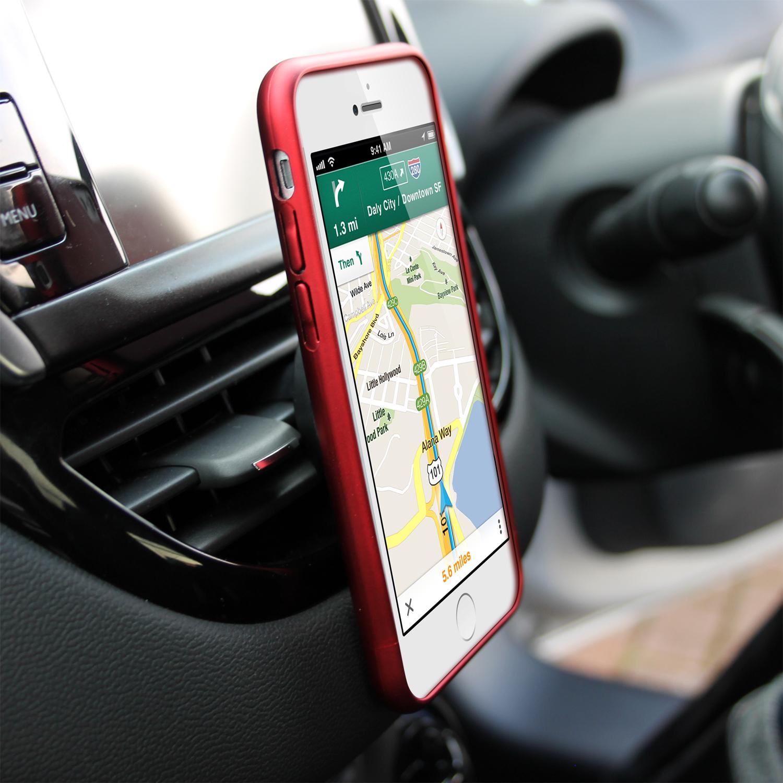 Support voiture magn tique universel grille d a ration - Support iphone voiture grille aeration ...