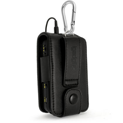 iGadgitz Black PU Leather Case Cover for Goodmans Pocket DAB Radio GDPRDAB with Belt Loop + Carabiner & Screen Protector Thumbnail 2