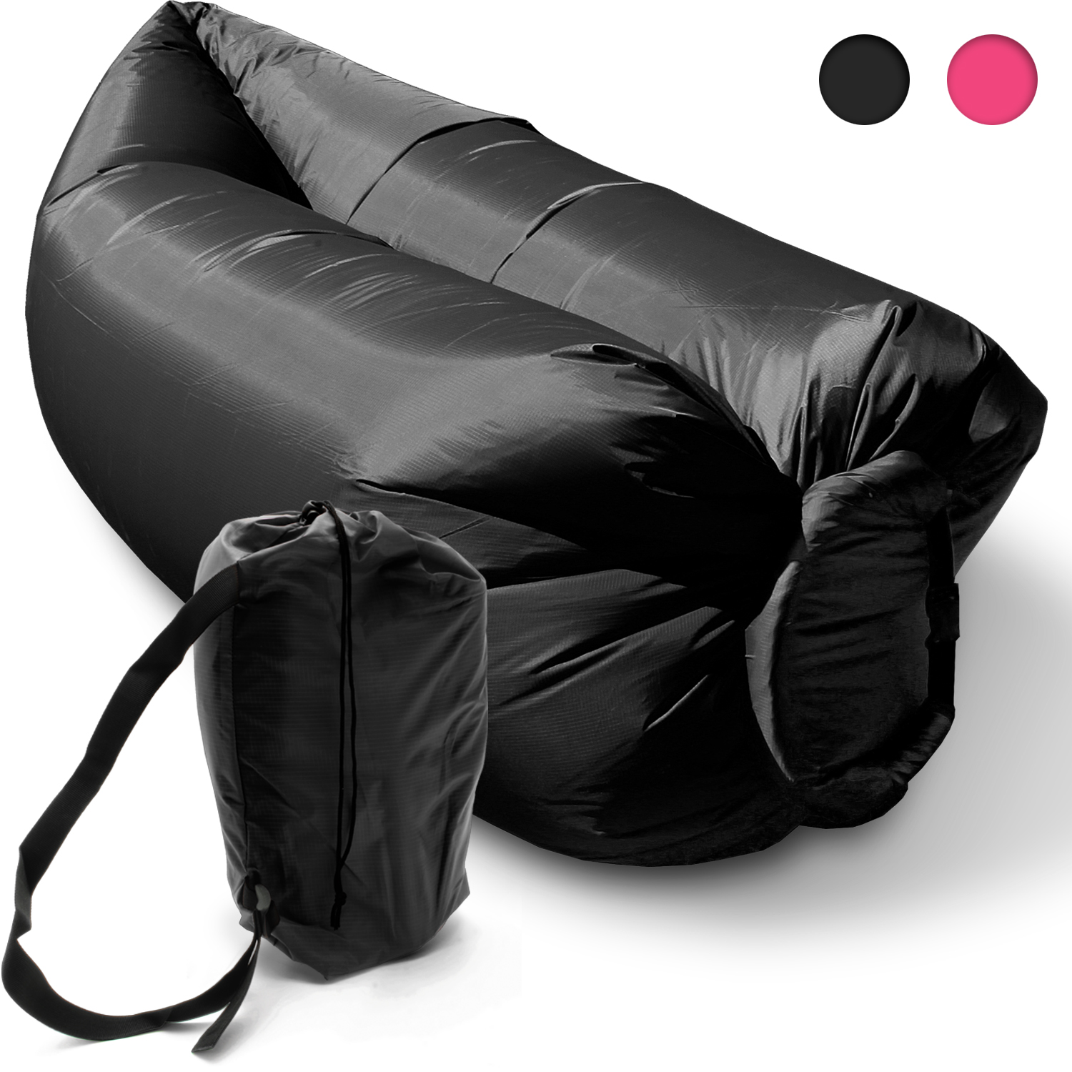 Inflatable Camping Lounger Sleeping Chair Bed Sofa Hangout  : U541620120Black20Inflatable20Outdoor20Air20Lounger20main from www.ebay.com.au size 1500 x 1500 jpeg 727kB