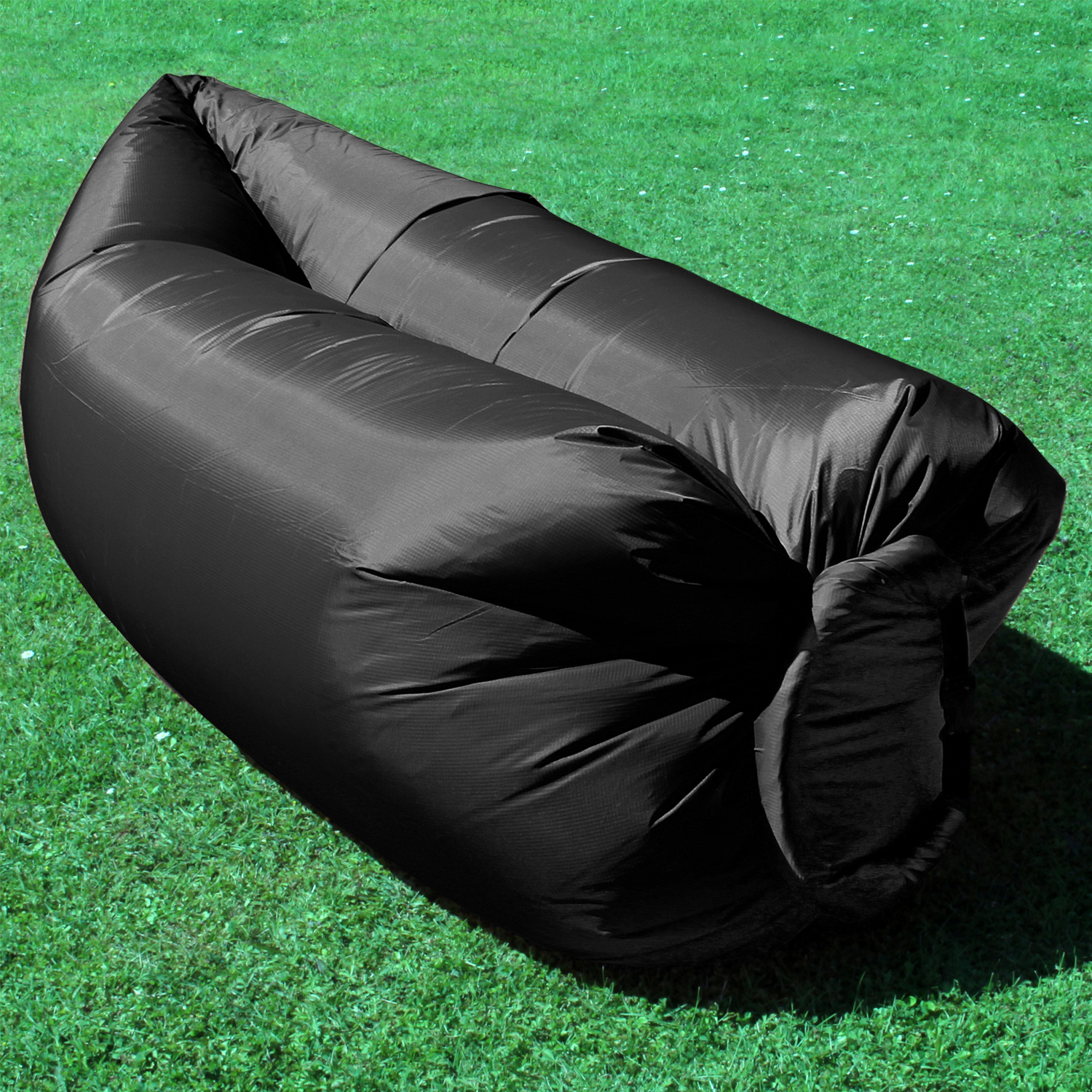 Inflatable Camping Lounger Sleeping Chair Bed Sofa Hangout Laybag Beach Outdo