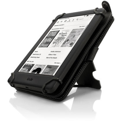 "iGadgitz Black PU Leather Folio Case Cover for Amazon Kindle E-Reader 6"" 2016 with Hand Strap & Viewing Stand Thumbnail 7"