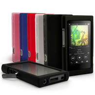 iGadgitz Silicone Skin Case Cover for Sony Walkman NW-A35 + Screen Protector