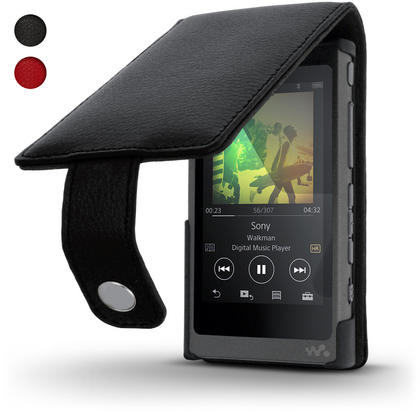 iGadgitz Leather Flip Case Cover for Sony Walkman NW-A35 with Magnetic Closure + Screen Protector Thumbnail 1