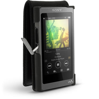 iGadgitz Leather Flip Case Cover for Sony Walkman NW-A35 with Magnetic Closure + Screen Protector Thumbnail 4