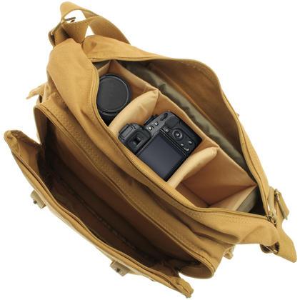 Optix Pro Water Repellent Canvas Messenger Shoulder Bag for SLR DSLR Cameras & Lens Thumbnail 2