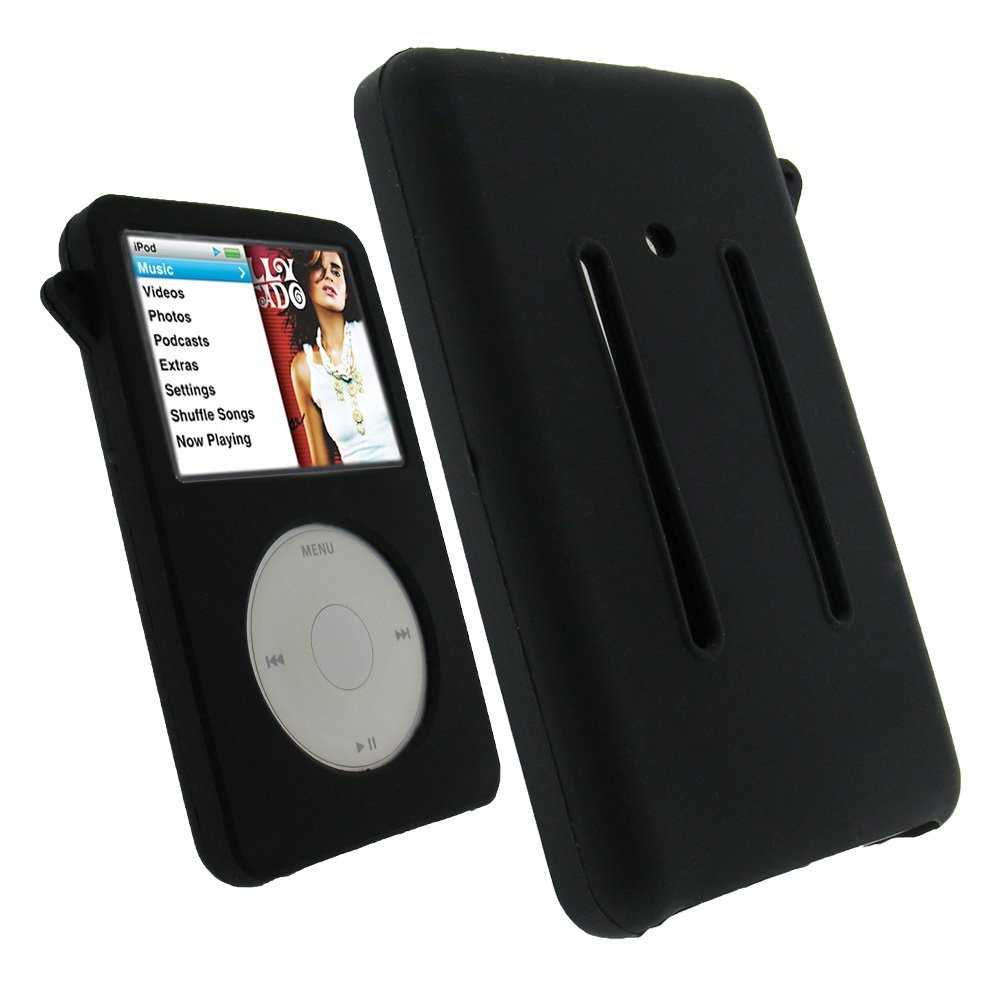 black silicone skin case for apple ipod classic 80gb 120gb. Black Bedroom Furniture Sets. Home Design Ideas