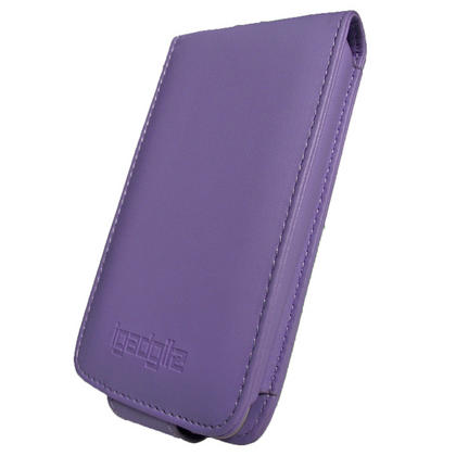 iGadgitz Purple Leather Case Cover for Apple iPod Touch 2nd & New 3rd Generation 8gb, 16gb, 32gb & 64gb + Belt Clip Thumbnail 2