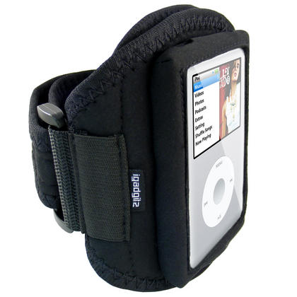 iGadgitz Water Resistant Neoprene Sports Gym Jogging Armband for Apple iPod Classic 80gb, 120gb & 160gb Thumbnail 2