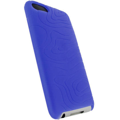 iGadgitz Blue Silicone Skin Case for Apple iPod Touch 2nd & 3rd Gen 8gb, 16gb, 32gb & 64gb with Patterned Back Thumbnail 3