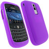 View Item Purple Silicone Skin Case Cover for BlackBerry Bold 9000 + Screen Protector