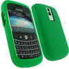 View Item iGadgitz Army Green Silicone Skin Case Cover for BlackBerry Bold 9000 + Screen Protector