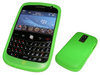 View Item Bright Green Silicone Skin Case Cover for BlackBerry Bold 9000 + Screen Protector