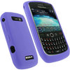 View Item iGadgitz Purple Silicone Skin Case Cover for BlackBerry Curve 8900 + Screen Protector