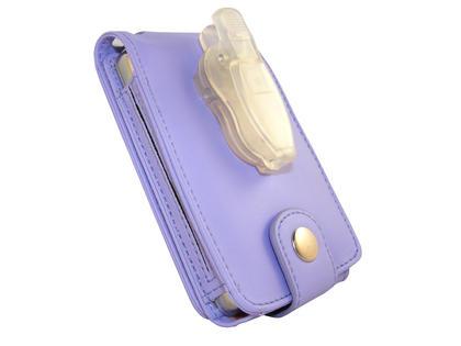 iGadgitz Purple PU Leather Case for Apple iPod Classic 80gb, 120gb & latest 160gb + Belt Clip & Screen Protector Thumbnail 5