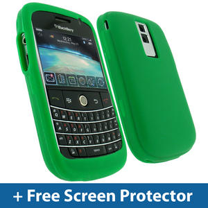 Army Green Silicone Skin Case for BlackBerry Bold 9000 Mobile Phone Cover Holder Preview