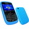 View Item iGadgitz Blue Silicone Skin Case Cover for BlackBerry Curve 8520 Gemini & Curve 3G 9300 + Screen Protector