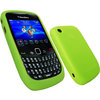 View Item iGadgitz Green Silicone Skin Case Cover for BlackBerry Curve 8520 Gemini & Curve 3G 9300 + Screen Protector