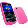 View Item iGadgitz Pink Silicone Skin Case Cover for BlackBerry Curve 8520 Gemini & Curve 3G 9300 + Screen Protector