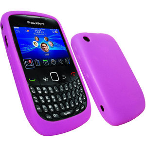 iGadgitz Purple Silicone Skin Case Cover for BlackBerry Curve 8520 Gemini & Curve 3G 9300 + Screen Protector Preview