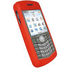 View Item iGadgitz Red Silicone Skin Case Cover for BlackBerry Pearl 8110 8120 8130 + Screen Protector
