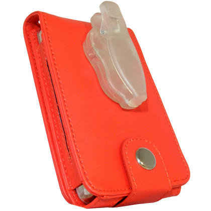 iGadgitz Red PU Leather Case for Apple iPod Classic 80gb, 120gb & latest 160gb + Belt Clip & Screen Protector Thumbnail 4