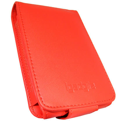 iGadgitz Red PU Leather Case for Apple iPod Classic 80gb, 120gb & latest 160gb + Belt Clip & Screen Protector Thumbnail 2
