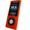 View Item iGadgitz RED Silicone Skin Case Cover for Apple iPod Nano 5th Generation 5G (with Video Camera) 8GB & 16GB + Screen Protector & Lanyard