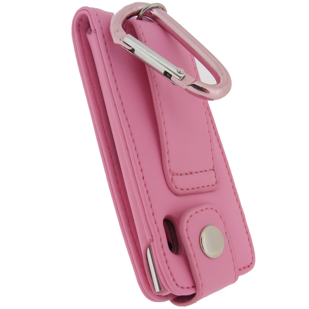 Igadgitz Pink Pu Leather Case For Apple Ipod Nano 5th Gen