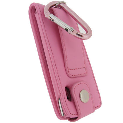 iGadgitz PINK PU Leather Case for Apple iPod Nano 5th Gen (With Video Camera) + Screen Protector & Detachable Caribiner Thumbnail 4